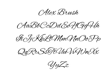 Font- Alex Brush