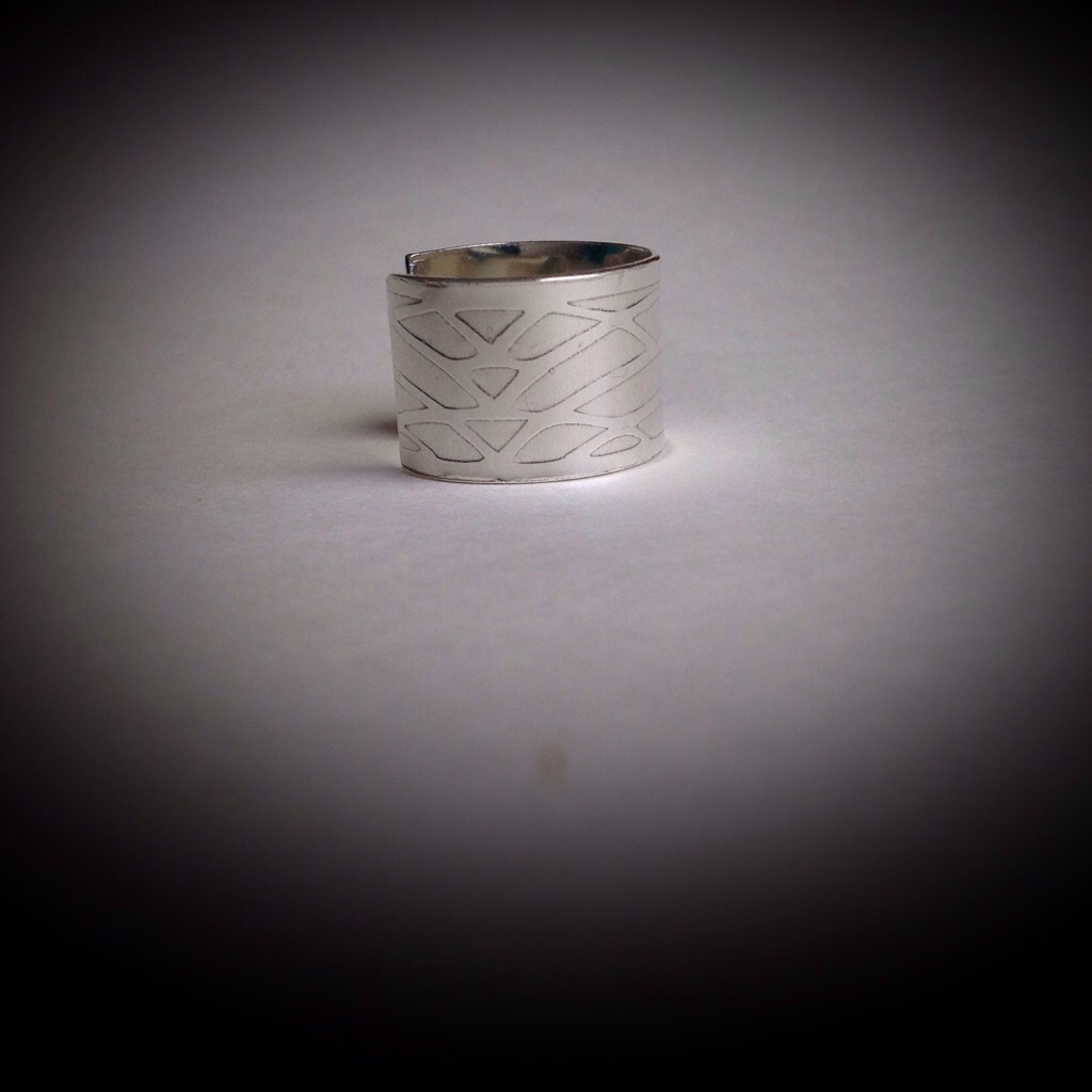Sterling Silver Art Deco 7 1/2 Ring