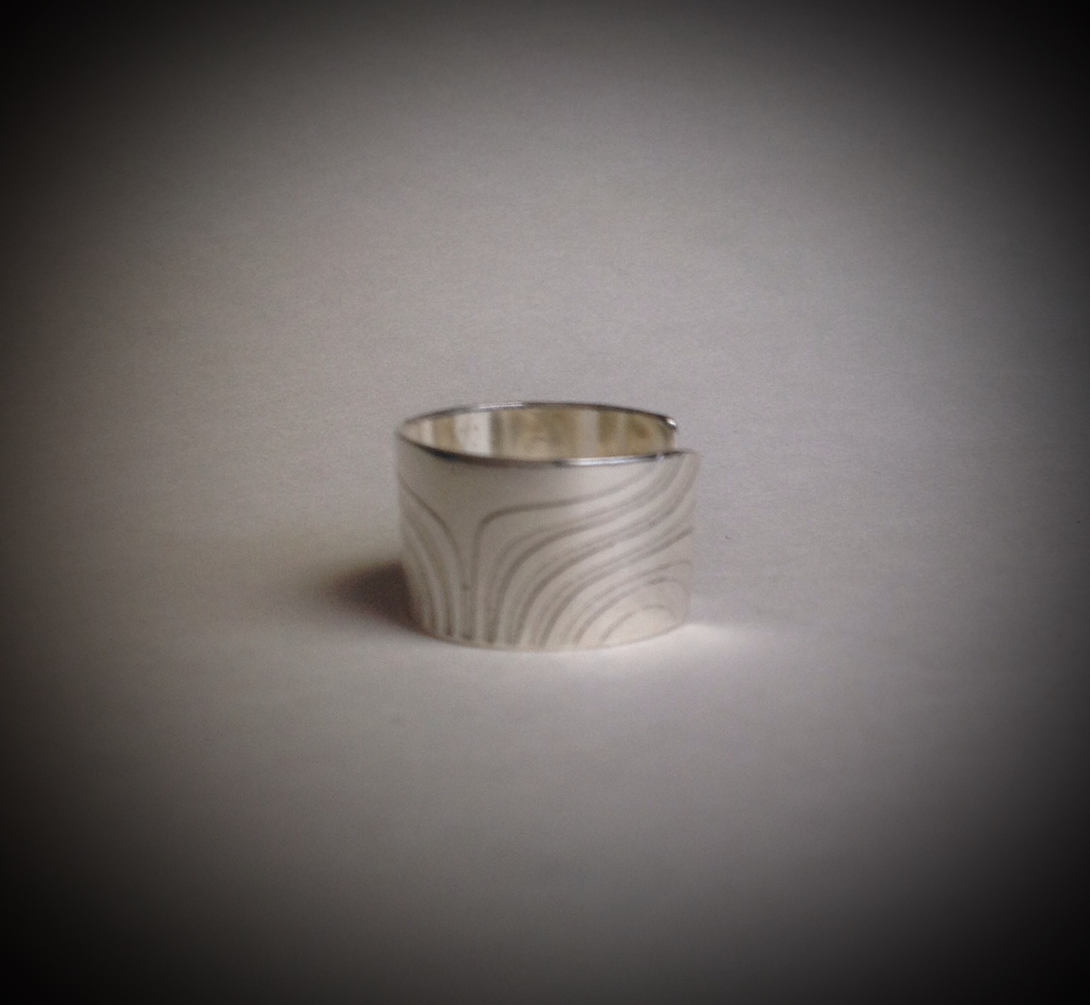 Argentium- New Waves Ring