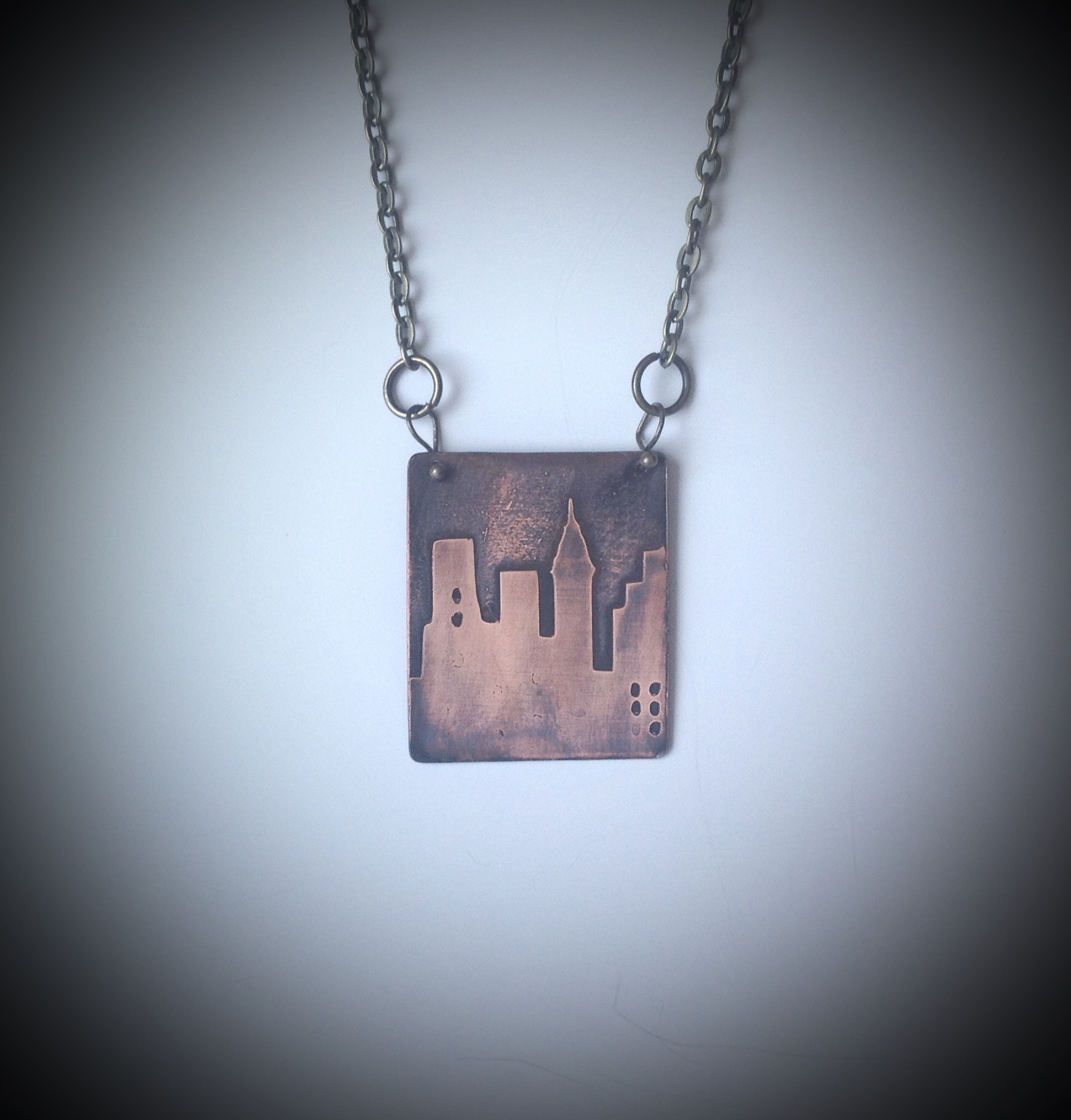 City Girl Copper Pendant