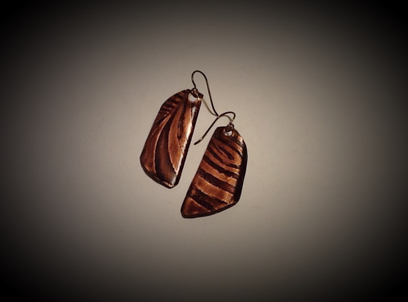 Niobium & Copper Earrings- Swirl 1