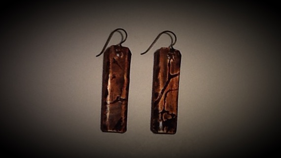 Niobium & Copper Earrings- Cherry Tree 1