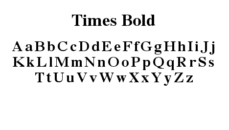 Font- TImes Bold
