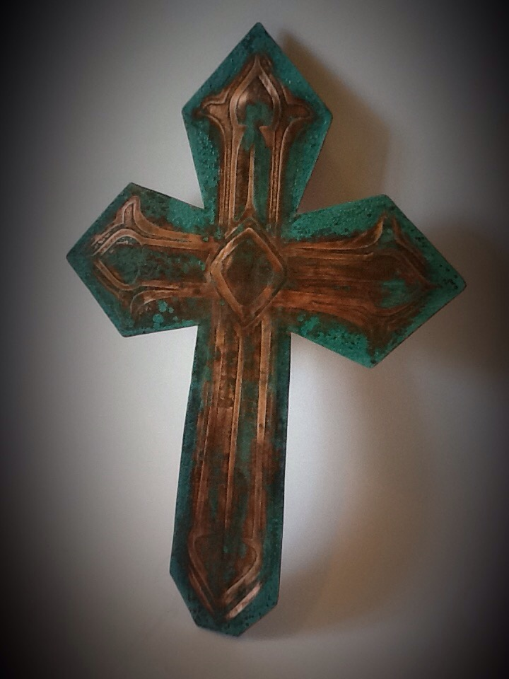 "Cross-12"" Blue/Teal"