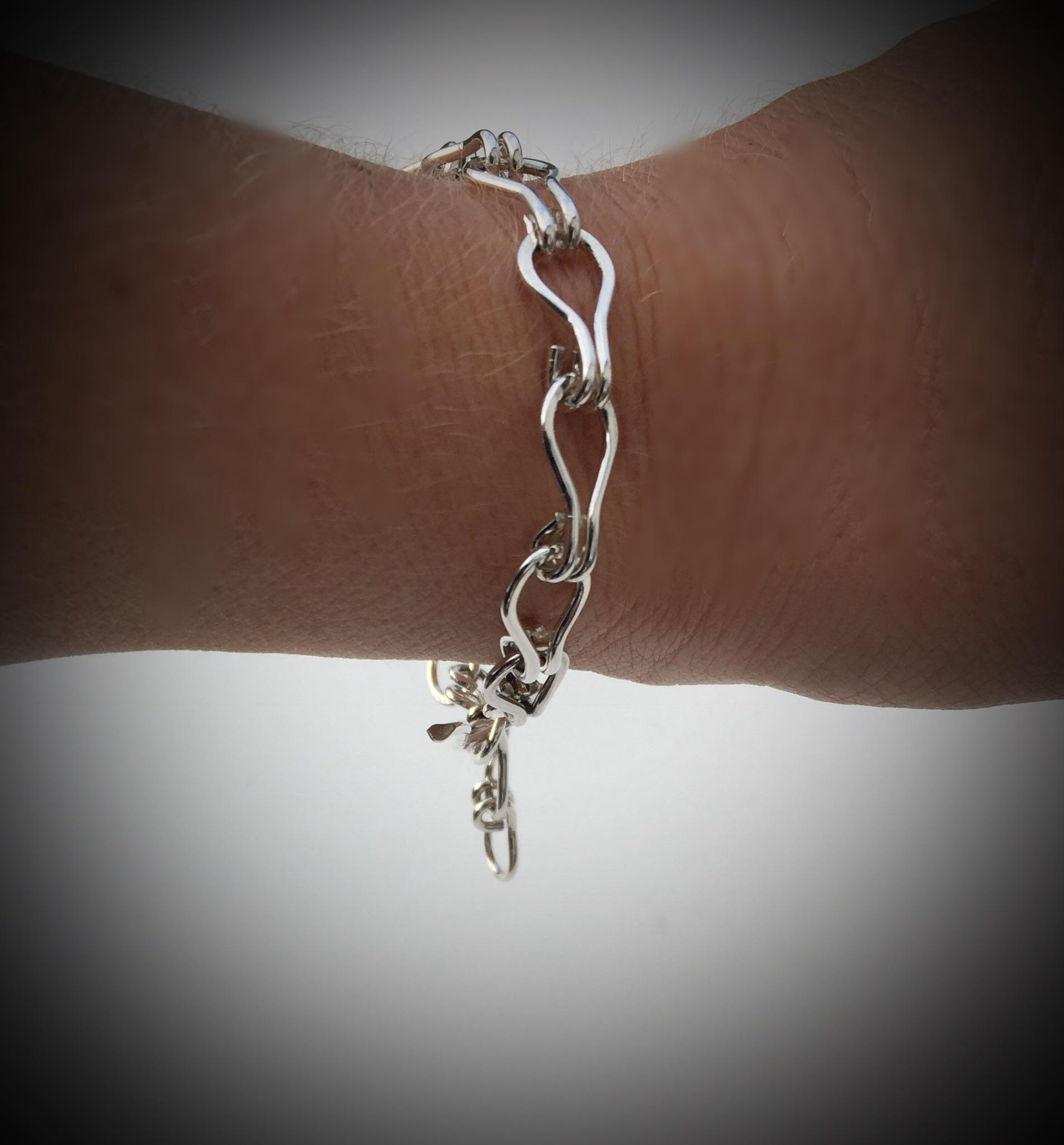 Sterling Silver Link Bracelet or Anklet